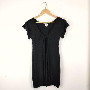ARITZIA - WILFRED | Tunic Black V Neck Mini Dress